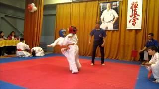 каратэ Филиппова Вика (бой Девочки 8 лет)