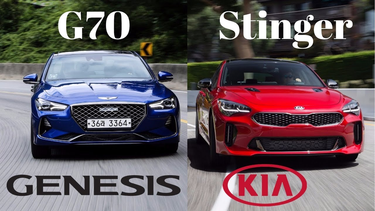2019 Genesis G70 Vs 2018 Kia Stinger What S The Difference Youtube