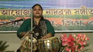 TABLA SOLO BY FEMALE TABLA PLAYER,SUNAYANA GHOSH disciple of Pt.Shankar Ghosh Bickram