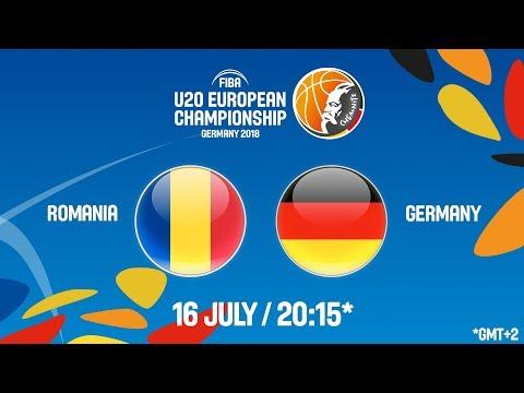 LIVE 🔴 - Romania v Germany - FIBA U20 European Championship 2018