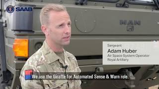 homepage tile video photo for British Army operators on using Saab's Giraffe AMB radar.