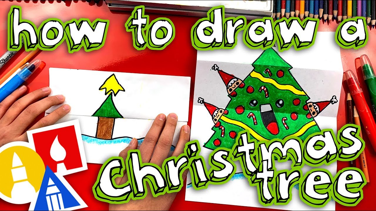 How To Draw A Christmas Tree Folding Surprise Youtube