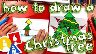 How To Draw A Christmas Tree (Folding Surprise)
