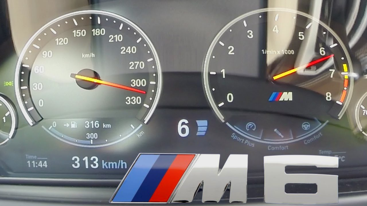 BMW M6 2017 Acceleration COMPETITION PACKAGE 0-313 km/h Top Speed ...