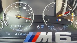BMW M6 2017 Acceleration COMPETITION PACKAGE 0-313 km/h Top Speed Autobahn Drive Sound