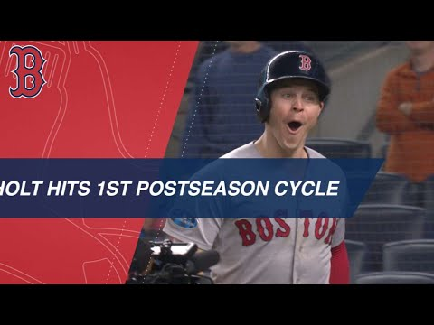 Brock Holt makes postseason history with cycle