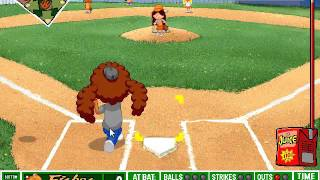 Backyard Baseball (PC) Gameplay - (Game #6: Fishes @ Monsters)