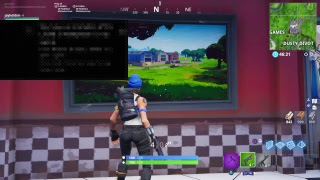 Fortnite high explosive and trying to get a win and recreating dusty depot