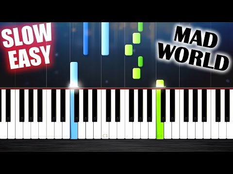 Mad World - Gary Jules - SLOW EASY Piano...