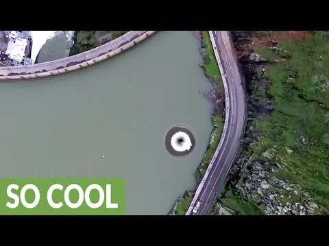 Thumbnail: Drone almost swallowed up by Lake Berryessa glory hole