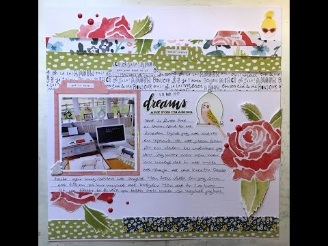 "Computer inspired 12x12"" scrapbook layout using Dera Lizzy ""Lovely Day"""