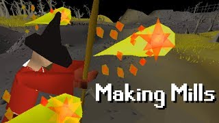 Making Mills with only FIRE BOLT (32 combat)