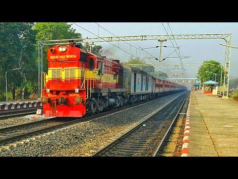 """Newly Fresh Looking Mughal-Sarai 16854R WDM3A-""""Chennai Egmore Gaya Express"""" Indian Railways"""