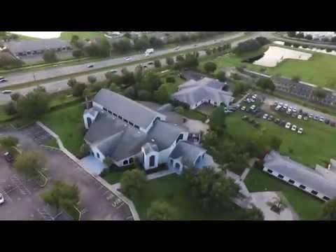 Holy Cross Catholic Church Orlando | Aerial Tour Views
