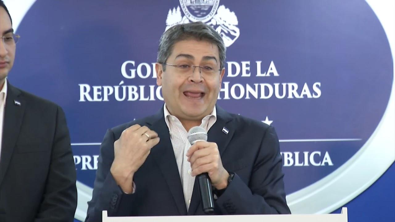 COMPARECENCIA  DEL PRESIDENTE DE HONDURAS PARTICIPACION EN LA CUMBRE COP 25 EN ESPAÑA MADRID