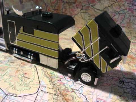 Custom Model Cab Over Kw K100 With 144 Big Sleeper Youtube