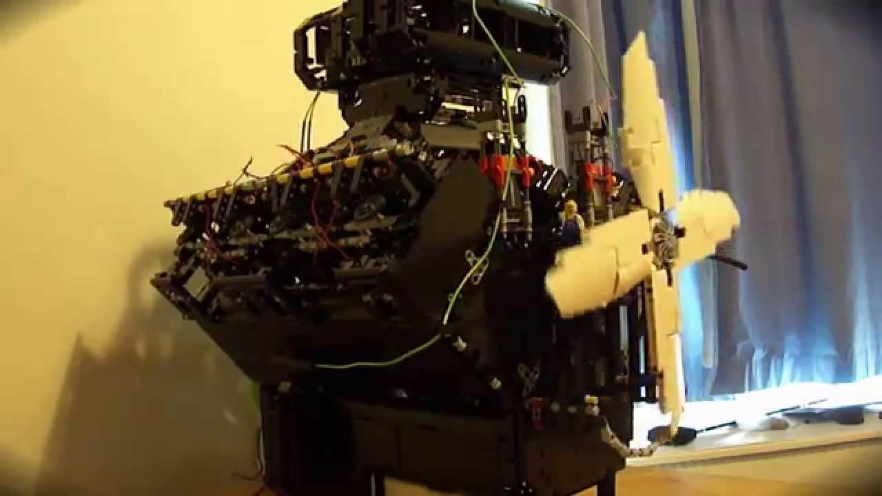 Large Lego Technic V8 Engine Working Distributor 8