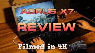Aorus X7 Review - Thinnest SLI Gaming Laptop [4K]