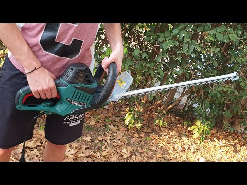 Parkside Electric Hedge Trimmer PHS 600 A1 Unboxing Testing
