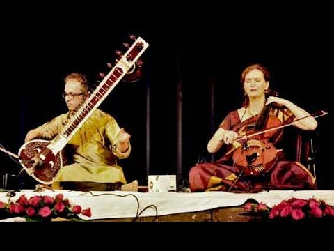 Raag Yaman - Sitar & Cello jugalbandi by Shubhendra & Saskia Rao & Tabla by Shiv Shankar Ray