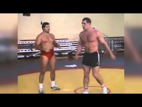 Александр Карелин и Михаил Мамиашвили Тренировка 1990 (Aleksandr Karelin)