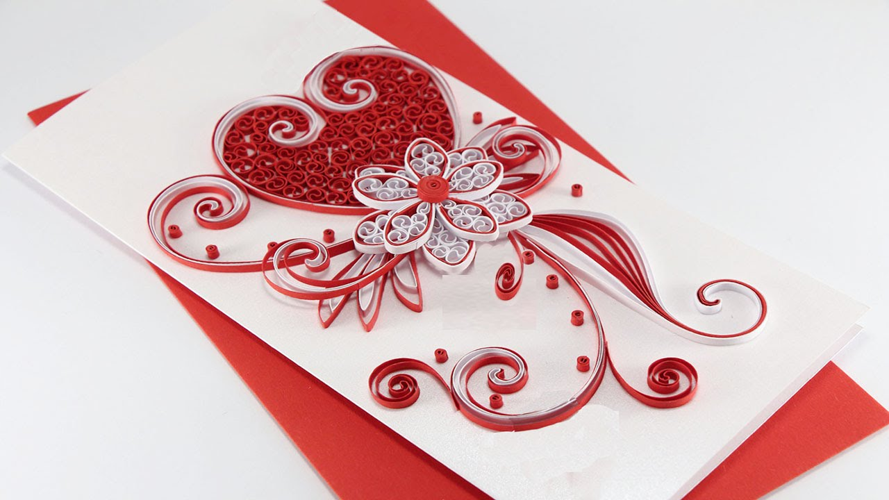 quilled card | How to make Beautiful Quilling Wedding Card-design ...