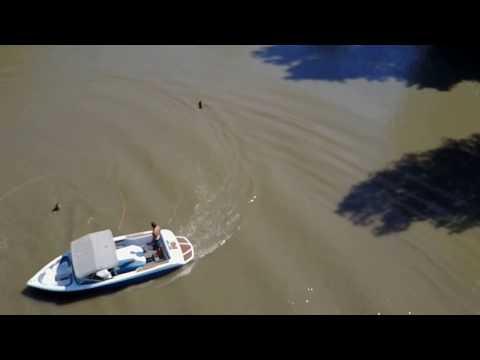 MavicPro Waterskiing - Water Curtains
