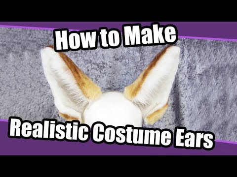 tutorial 1 realistic ears for costumes pdf pattern youtube
