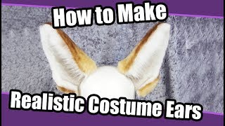 //Tutorial #1// Realistic Ears for Costumes + PDF Pattern