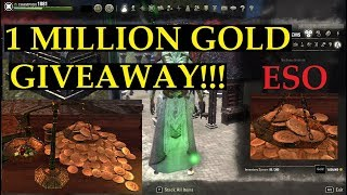 1 MILLION GOLD Giveaway! ESO Prizes for Master the Fun YT Subscribers!