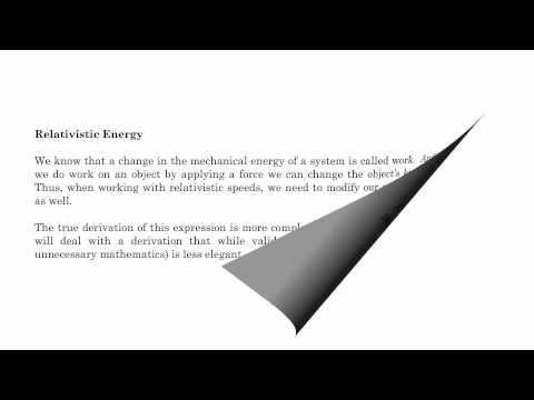 6.6 - Mass Energy Equivalence