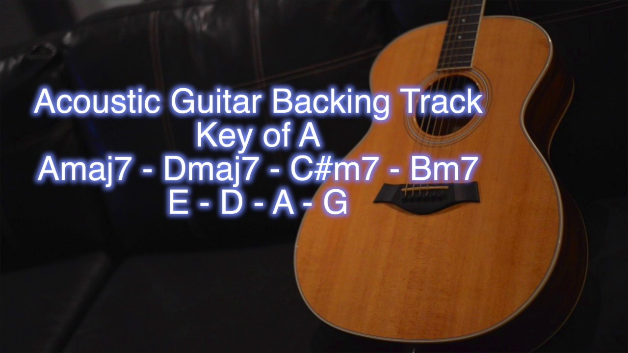 acoustic guitar backing track key of a youtube. Black Bedroom Furniture Sets. Home Design Ideas