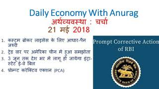 Daily Economy Current Affairs 21 may 2018