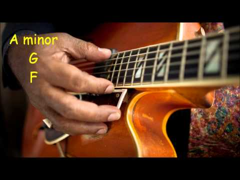 Smooth Jazz/R&B Guitar Backing Track in A Minor