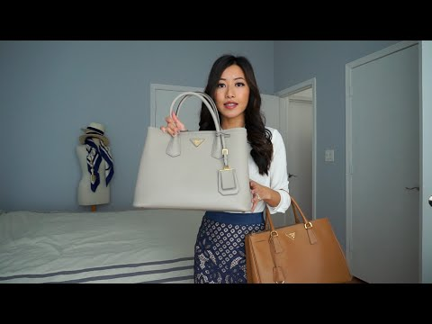 Prada Saffiano tote review: Cuir double bag vs. Lux double zip purse comparison