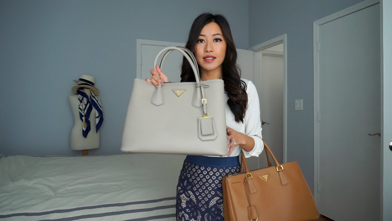 prada inspired bag - Prada Saffiano tote review: Cuir double bag vs. Lux double zip ...