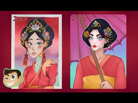 Geisha Girl Redraw! (1 Year of Progress) [Speedink & Speedpaint]