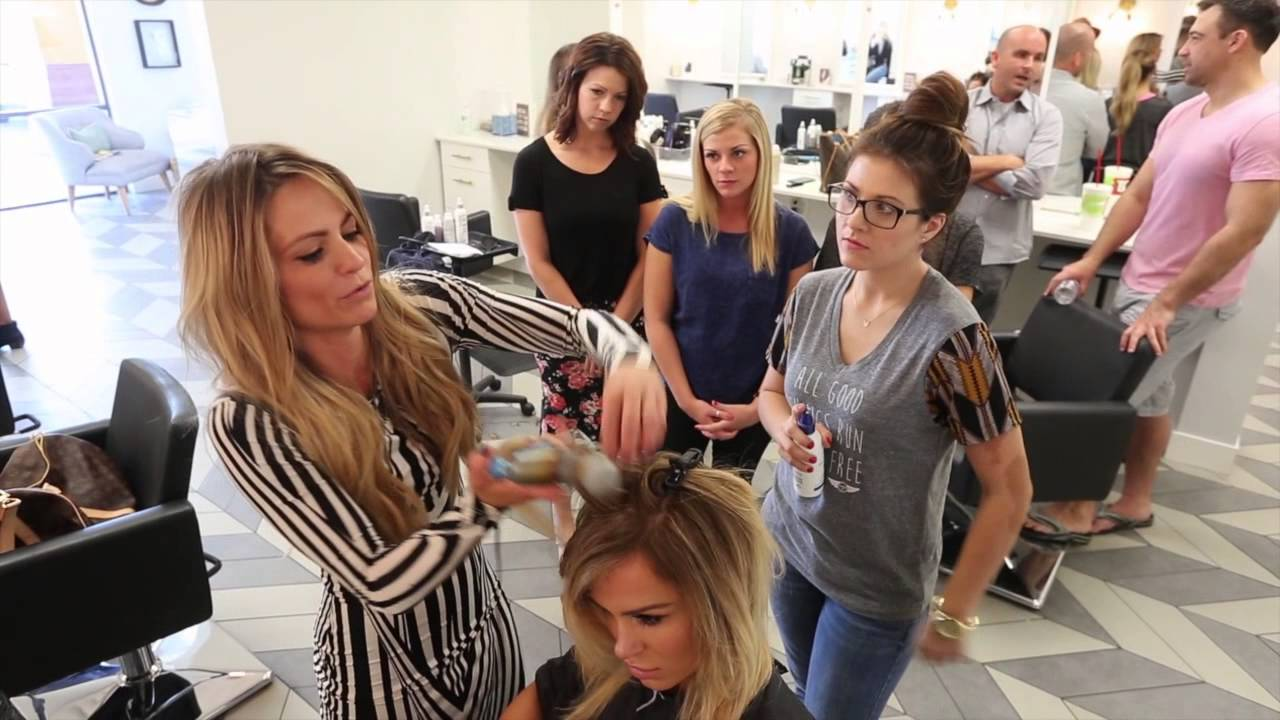 Assistant Training At The Salon Youtube
