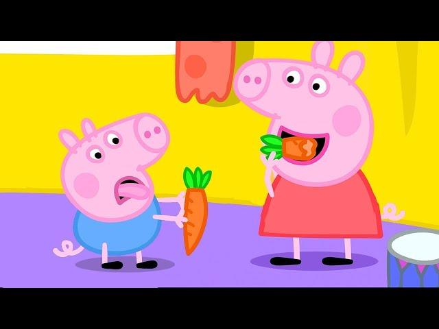 Peppa Pig Français 🥕 Peppa Aime Les Carottes | Épisode Complet | Dessin Animé Pour Bébé