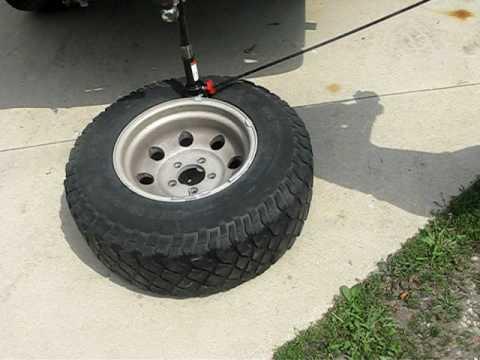 r r bead breaker tyre refitting tool demonstration at