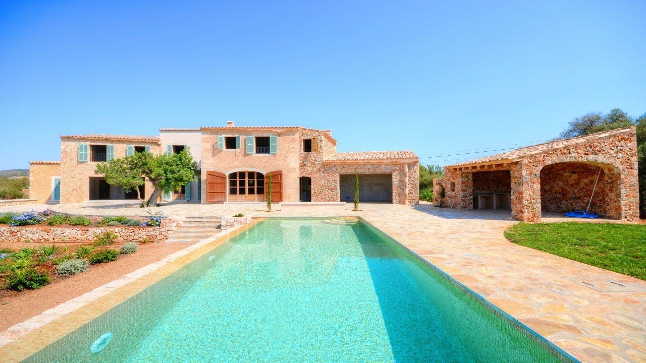 Casa de campo bonita con vista al mar mallorca inmobiliaria youtube - Casa de campo mallorca ...
