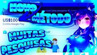 NOVO HACK ATUALIZADO GOOGLE REWARDS!! MÉTODO 100%FUNCIONAL