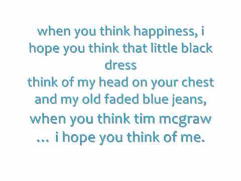 Taylor Swift-Tim McGraw w/Lyrics On Screen/Description