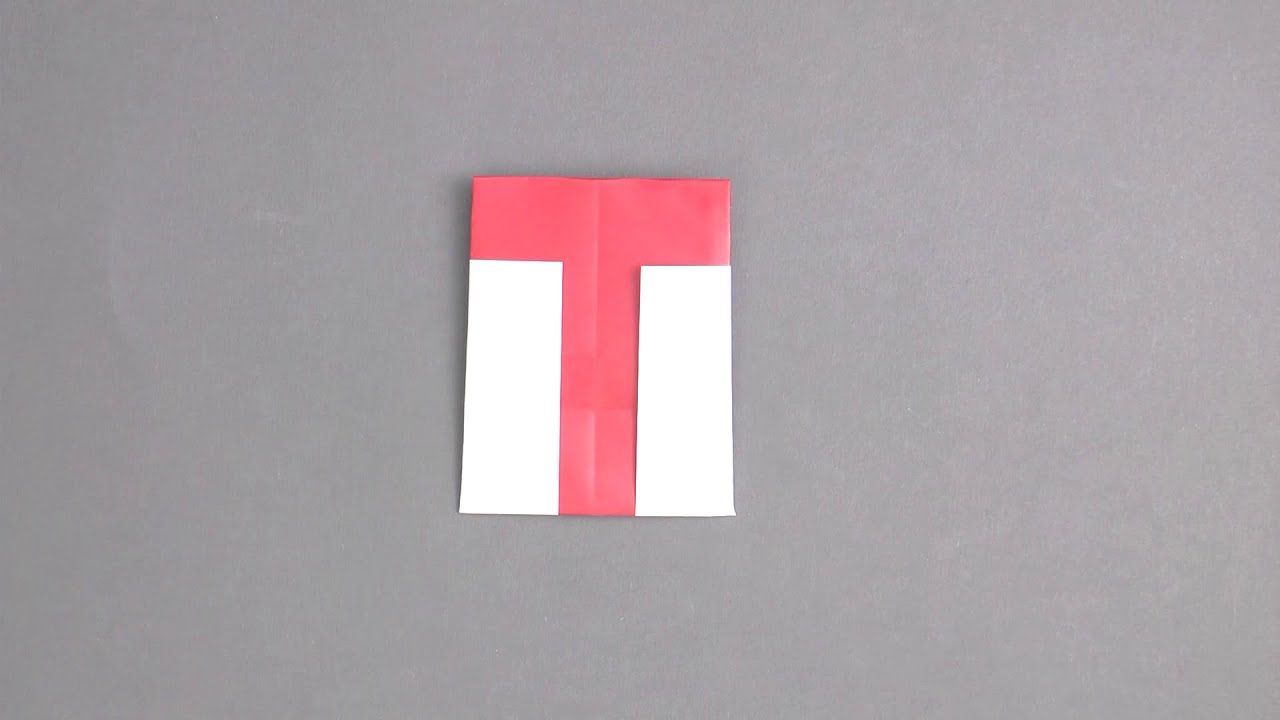 Letter T Origami Tavins Instructions