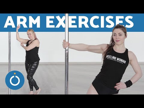 How to Strengthen ARMS with POLE DANCING 💪 (NO WEIGHTS)