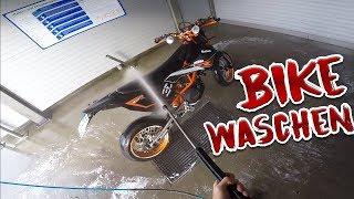 Jetzt wirds sauber!   Motorrad waschen!