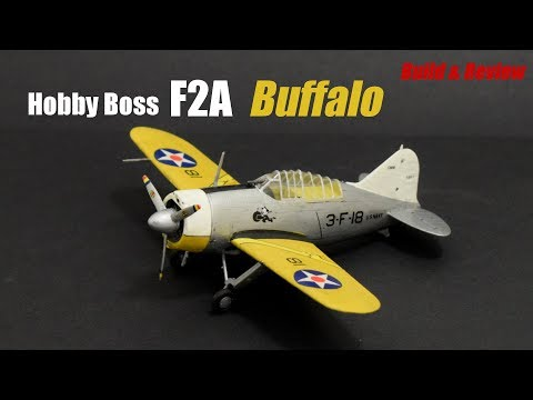 Hobby Boss F2A Buffalo - 1/72 Scale Plastic Model Kit - Build & Review