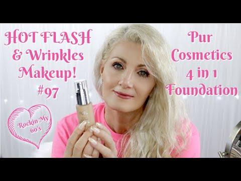 HOT FLASH & Wrinkles Makeup! #97 - Pur 4 in 1 Love your Selfie Foundation - Bent