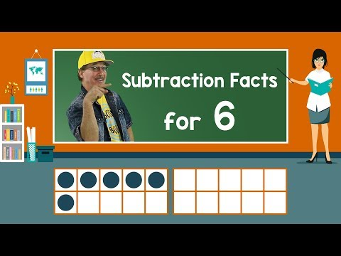 Practice Our Subtraction Facts for 6 | Subtraction Song | Math Song for Kids | Jack Hartmann