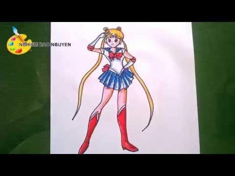Vẽ thủy thủ mặt trăng/ How to Draw Sailor Moon